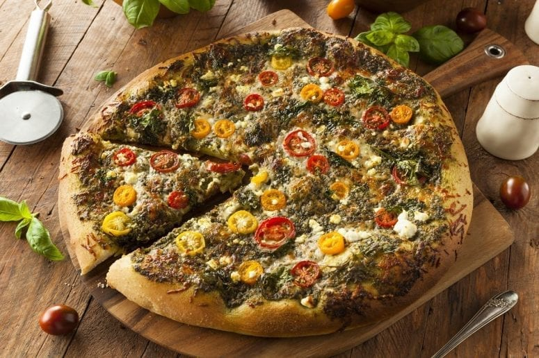 Make the Most Delicious and Healthy Pizza Recipe with only 5 Fresh Ingredients From Your Organic Garden