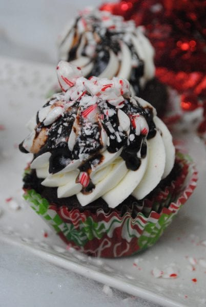 Peppermin Mocha Latte Cupcakes