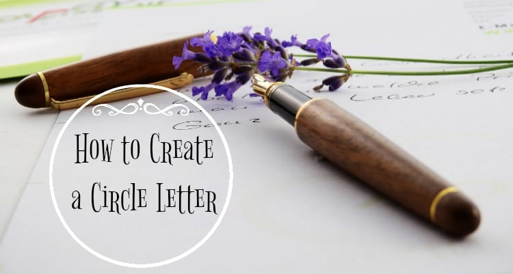 How to Create a Circle Letter