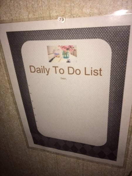 reusable to do list