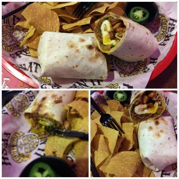 Tijuana Flats Hangover Burrito Turkey Chorizo