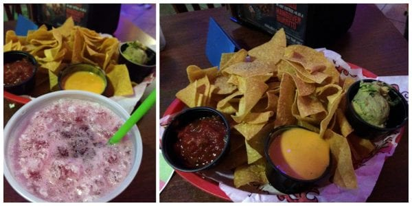 Tijuana Flats Trio and Red Sangria