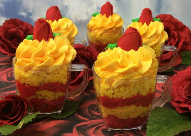 Celebrate Beauty and the Beast with Belle's Teacup Cupcakes