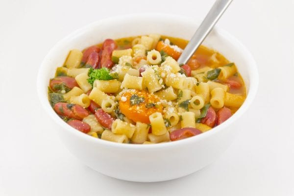 Pasta and kidney beans soup recipe