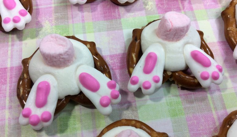 Hoppin' In Just in Time For Easter: Bunny Butt Pretzels