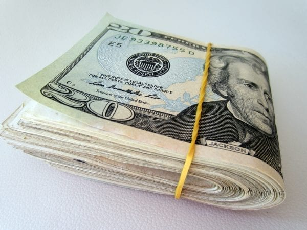 paying with cash credit and living frugally