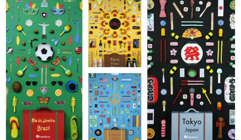 The Colorful Objects of 4 Iconic Cities