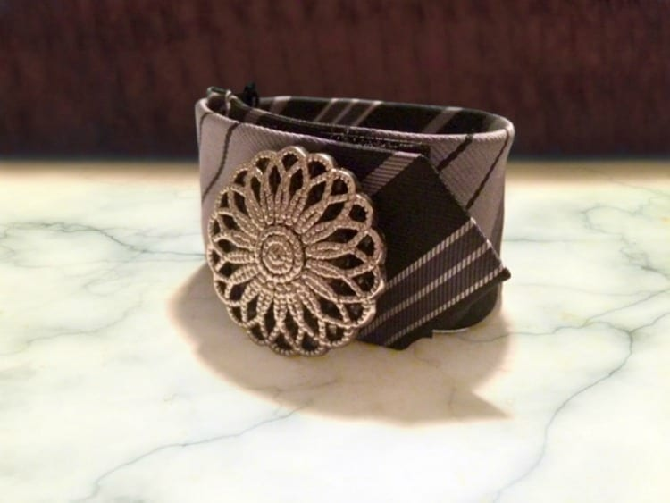 How To Make A Cuff Bracelet from a Tie