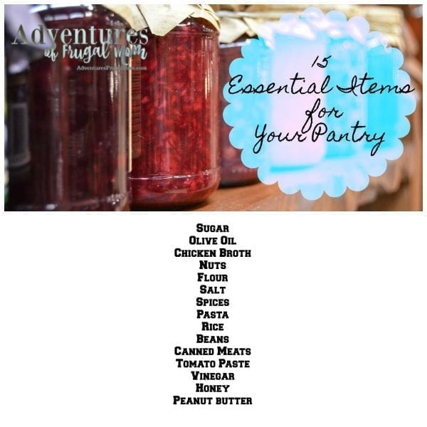 15 Essential Items for your Pantry pinterest image