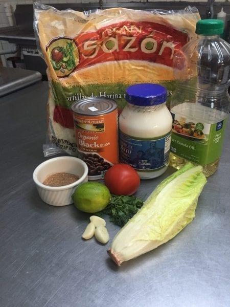 Black Bean Burrito Ingredients