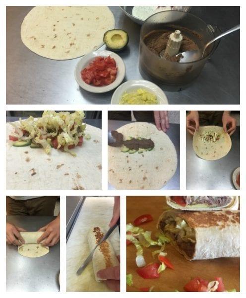 Black Bean Burrito Collage