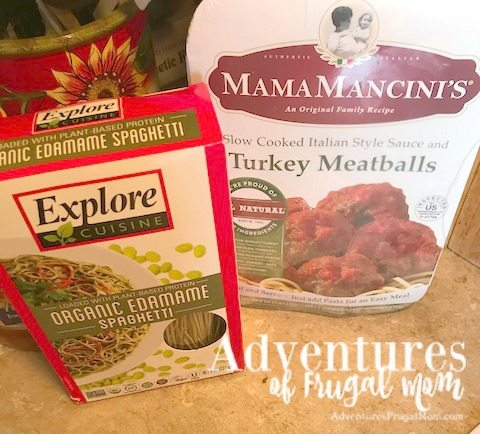 Ingredients for Spaghetti and Meatballs Pie