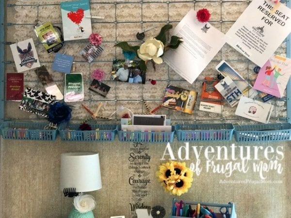Inspiration Board DIY Bible Journaling Desk