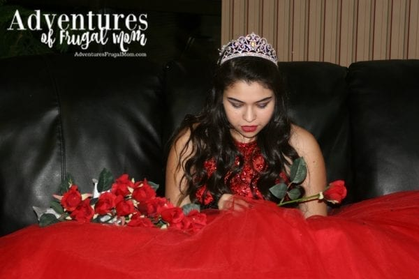 Quinceañera Roses at end of the night commercial silk