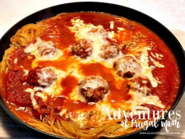 Spaghetti and Meatballs Pie