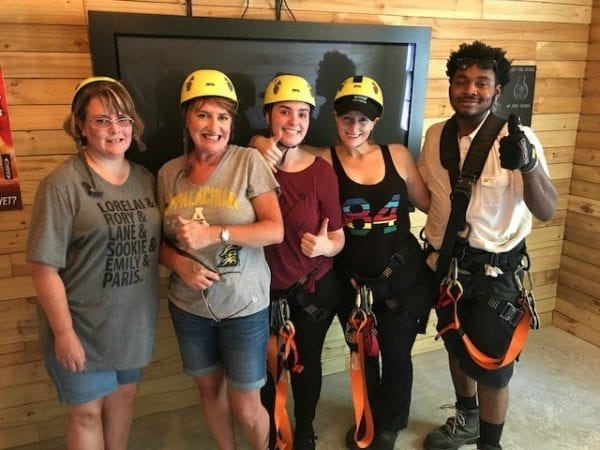 Zip Lining Group With Ed