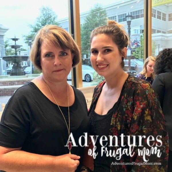 Courtney and I at Kendra Scott Jewelry - Kendra Scott Jewelry Supporting a Great Cause by North Carolina lifestyle blogger Adventures of Frugal Mom