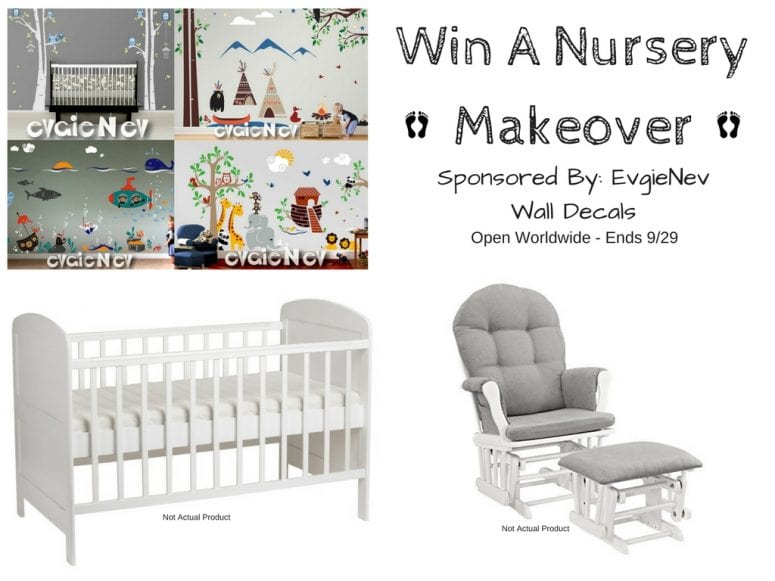 EvgieNev Wall Decal Nursery giveaway