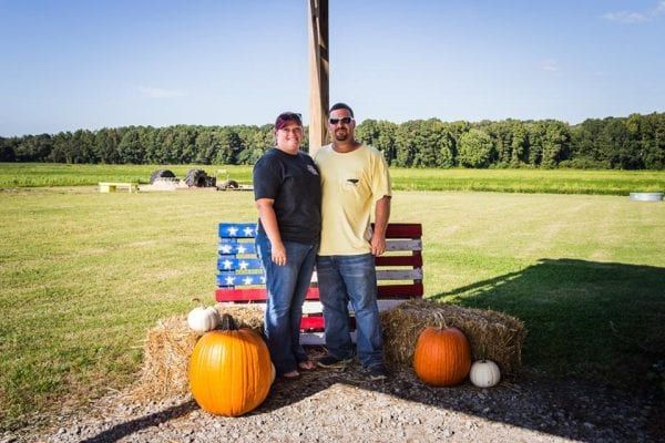 emily and jr fall activities - Fun Fall Activities at Odom Farming by North Carolina lifestyle blogger Adventures of Frugal Mom