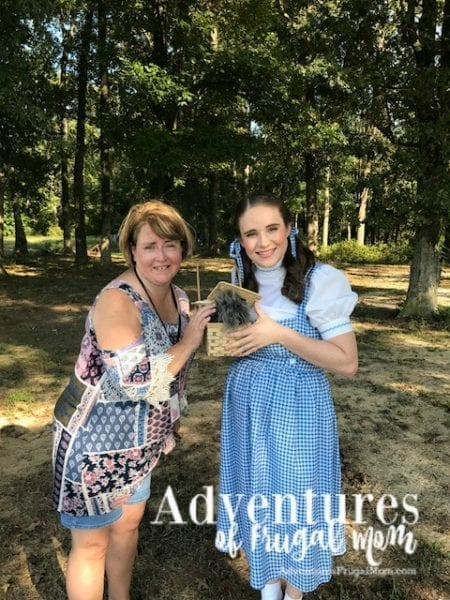 fall activities surprise visitor Dorothy and Toto from Coco Darlings - Fun Fall Activities at Odom Farming by North Carolina lifestyle blogger Adventures of Frugal Mom