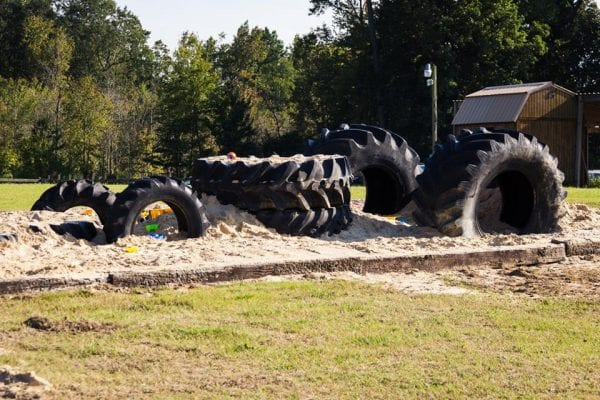 sandpile fall activities - Fun Fall Activities at Odom Farming by North Carolina lifestyle blogger Adventures of Frugal Mom