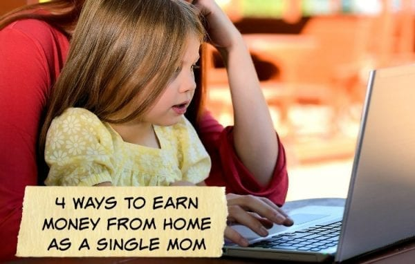 4 Ways To Earn Money From Home As A Single Mom by North Carolina Lifestyle Blogger Adventures of Frugal Mom