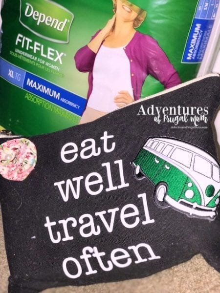 Being Discreet with Depend for Women by North Carolina lifestyle blogger Adventures of Frugal Mom