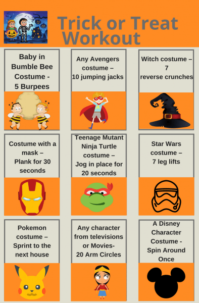 Trick or Treat Workout - Super Fun Halloween Workout by North Carolina mom blogger Adventures of Frugal Mom