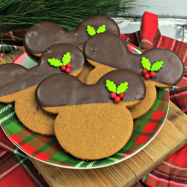 Sending You Holiday Wishes & Mickey Gingerbread Cookies