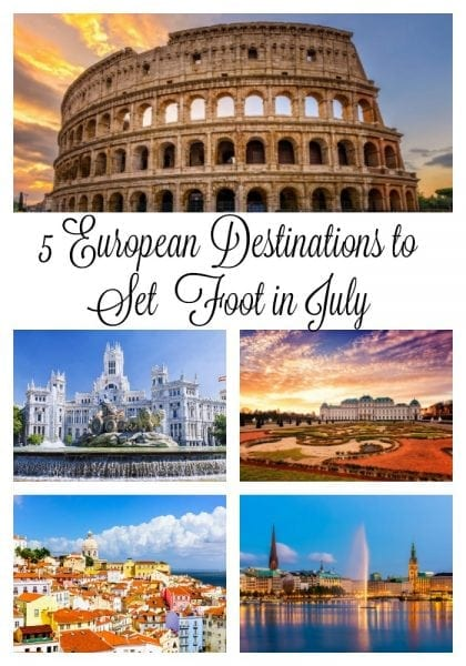 5 European Destinations to Set Your Foot in July from North Carolina Lifestyle Blogger Adventures of Frugal Mom