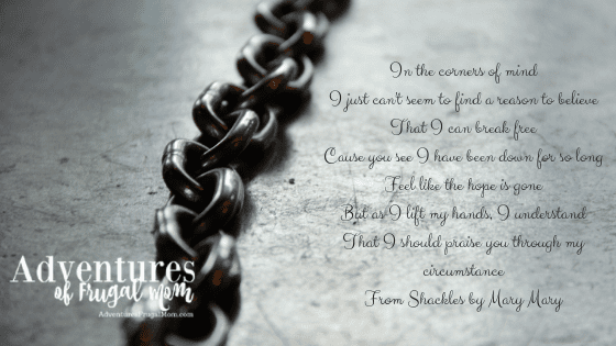 Why the Song Shackles is my Jam from North Carolina Lifestyle Blogger Adventures of Frugal Mom