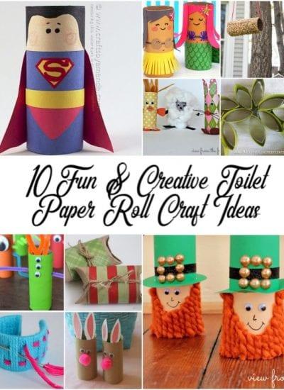 10 Fun & Creative Toilet Paper Roll Craft Ideas